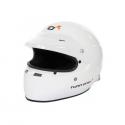Casque FIA intégral TURN ONE Full-RS blanc avec casquette