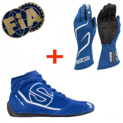 Pack Sparco FIA Bottines Slalom + Gants Land