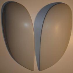 Cache phare Avant Citroën Saxo phase 2 fibre de verre