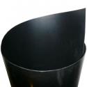 Plaque de protection d'intérieur d'aile 100x33cm - Noir