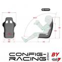 Baquet CRC + Harnais CRC FIA 2017