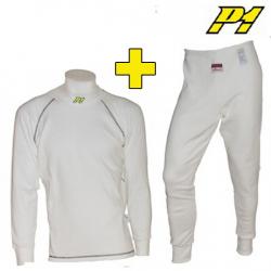 Tee-shirt + Pantalon P1 FIA - Blanc