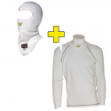 Tee-shirt + cagoule P1 FIA - Blanc