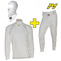Tee-shirt + Pantalon + cagoule P1 FIA - Blanc
