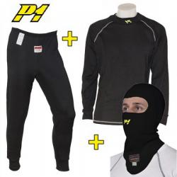 Tee-shirt + Pantalon + cagoule P1 FIA - Noir
