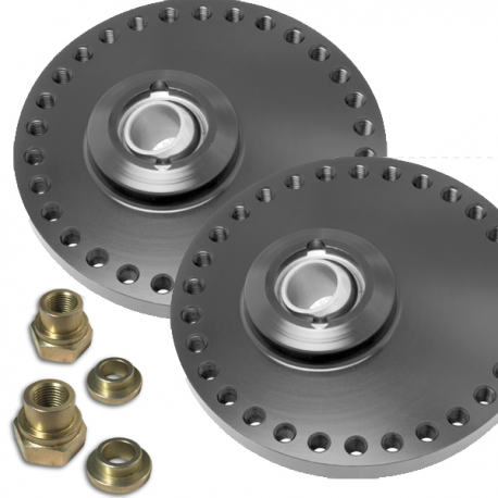 Coupelles amortisseurs alu universelles réglables sur rotule - Diamètre 130