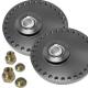 Coupelles amortisseurs alu universelles réglables sur rotule - Diamètre 114