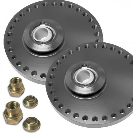 Coupelles amortisseurs alu universelles réglables sur rotule - Diamètre 105