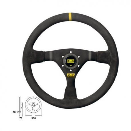 Volant OMP WRC - 350mm - tulipage 70