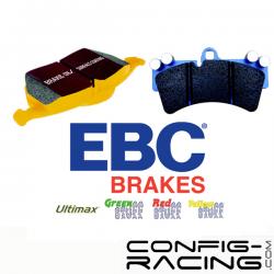 Plaquettes EBC pour kit D2 Arrière 8 pistons 400mm et 421mm