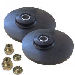 Coupelles amortisseurs alu universelles réglables sur rotule - Diamètre 158