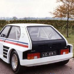 Lunette arrière Makrolon Citroën Visa