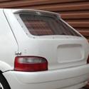 Lunette arrière Makrolon Citroen Saxo 3 portes