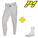 Pantalon + chaussettes P1 FIA - Blanc