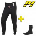 Pantalon + chaussettes P1 FIA - Noir