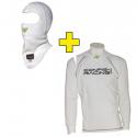 Tee-shirt + cagoule P1 CRC FIA - Blanc