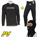 Tee-shirt + Pantalon + cagoule P1 CRC FIA - Noir