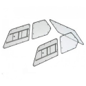 Kit Makrolon Mitsubishi Lancer evo 6 - 3mm