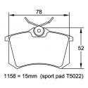 Plaquettes PAGID   Audi RS4 2.7 (B5)