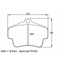 Plaquettes PAGID | Porsche 911 (996) 3.8 Carrera 4S / GT3 / Turbo 4