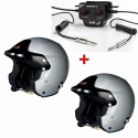 PACK 2 Casques STILO Trophy DES RALLYE + 1 Radio Trophy