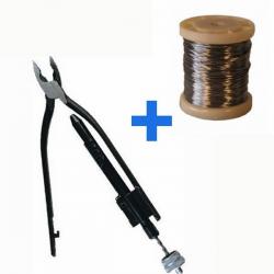 Pack à freiner - Pince + fil (0,8mmx100m)