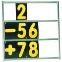 Tableau de panneautage OMP - 3 rangées - Avec numéros
