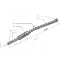 Tube Intermédiaire inox - Peugeot 205 1.9 GTI (130cv) - avec silencieux
