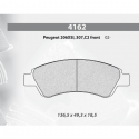 Plaquettes CARBONE LORRAINE Peugeot 206 2.0 S16