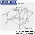 Arceau SPARCO ONS Lancia Delta HF/intégrale Multipoints à boulonner