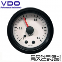 Pression turbo VDO mécanique (Vision) Ø 52 - -1/+1.5 bars - fond blanc - cerclage noir