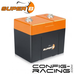 Batterie Lithium Super B - 7.8 A/h - démarrage 450A - 120x93x82 mm