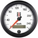Compteur de vitesse STACK Diamètre 88 - fond blanc