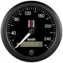 Compteur de vitesse STACK Ø 80 - fond noir