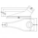 Ecope de refroidissement - Naca simple - 76/63mm