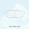 Plaquettes CARBONE LORRAINE Honda Civic VII 1.6 16V (EK4)