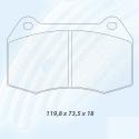 Plaquettes CARBONE LORRAINE Mini JCW R55 / R56 / R58 / R59
