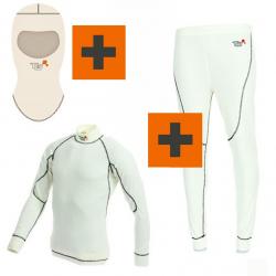 PACK Sous-vêtements Turn One Pro FIA - Blanc