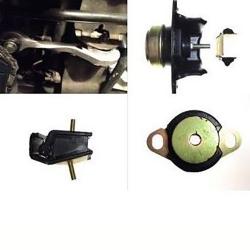 Kit 4 silent blocs Support moteur et boite ROHNCOR caoutchouc renforcés Renault Clio 2 RS 172/182cv phase 2 et 3