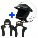 Casque Turn One Snell SA2015 avec intercom Stilo Trophy + HANS Club Séries
