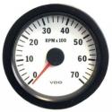 Compte-Tours VDO Vision Blanc Ø80 | 7000 tr /mn