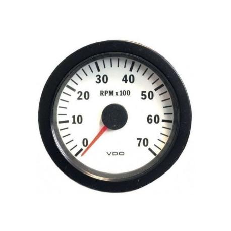 Compte-Tours VDO Vision Ø100 | 8000 tr /mn | Fond Blanc