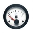 Jauge carburant VDO Vision Ø 52 | fond blanc | Levier