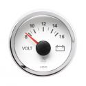 Voltmètres VDO Vision Ø 52 | 8-16 volts | Fond Blanc