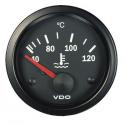 Température d'eau VDO Ø 52 | 120° | fond noir | cerclage noir