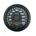 Compteur de vitesse VDO Ø 80 | fond noir | fond blanc