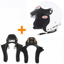 Casque BELL FIA Mag 1 intercom + HANS Club Séries