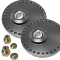 Coupelles amortisseurs alu universelles réglables sur rotule - Diamètre 80