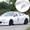 Kit Makrolon Peugeot 406 coupé - F2000