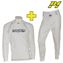 Tee-shirt + Pantalon P1 CRC FIA - Blanc